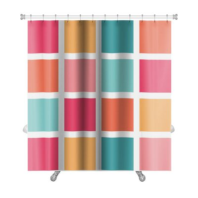 Cappa Tiled Pattern Repeating Premium Shower Curtain
