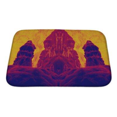 Skyline Image Fossilized Dwarf Image Enhanced Bath Rug Size: Large