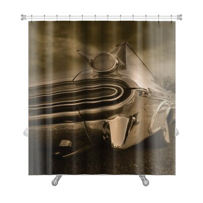 Cars Tail End of Classic Car in Tone Premium Shower Curtain