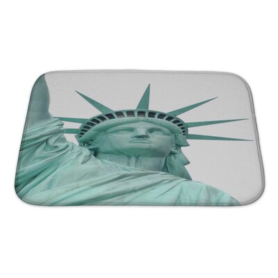 Patriotic Statue of Liberty Bath Rug Size: Small