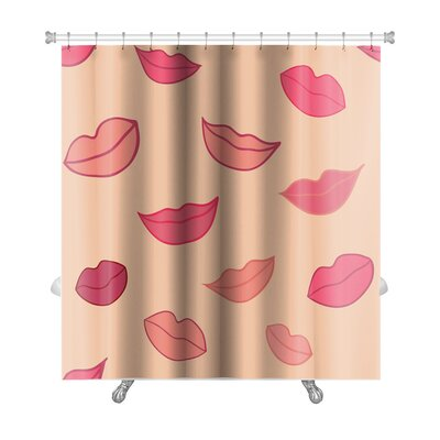 Human Touch with Woman Lips Premium Shower Curtain