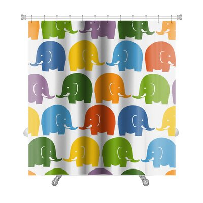 Animals Colorful Elephants Premium Shower Curtain