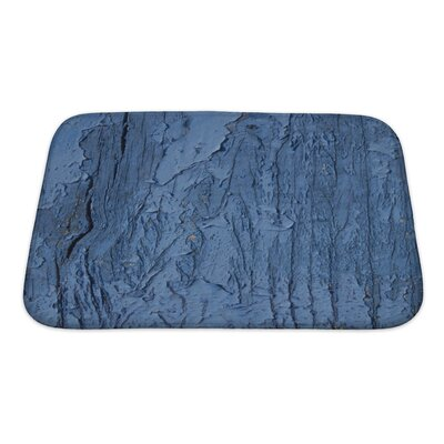 Wood Cracked Paint on Wood Bath Rug Size: Small