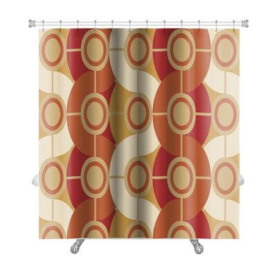 Beta Circle Abstract Premium Shower Curtain