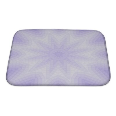 Primo Geometric Lilac of Squares Pattern Bath Rug Size: Small