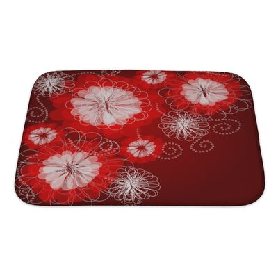 Charlie Decorative Floral with a Beautiful Flowers Bath Rug Size: Small
