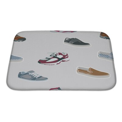 Fun Shoes Sneakers Bath Rug Size: Small