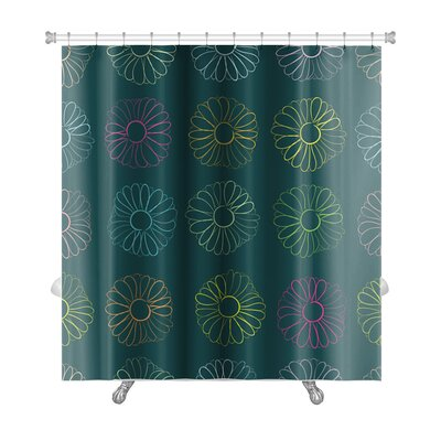 Slide Contours of Camomiles Premium Shower Curtain