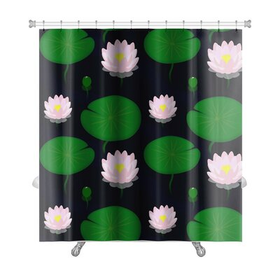 Cappa Evening Pond with Lilies, Premium Shower Curtain