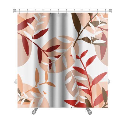 Leaves Backgorund with Leaf Premium Shower Curtain