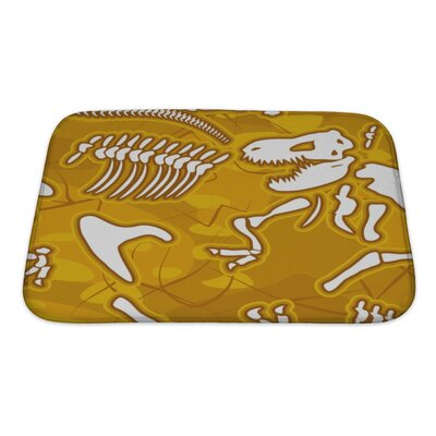 Dinosaurs Bones Bath Rug Size: Small