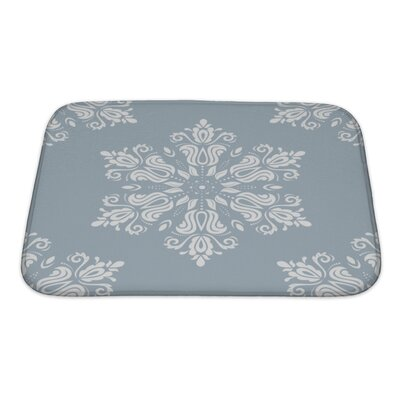 Primo Damask Pattern with Oriental Elements Bath Rug Size: Small