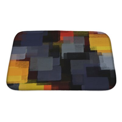 Art Hard Digital Abstract Paint Bath Rug Size: Small