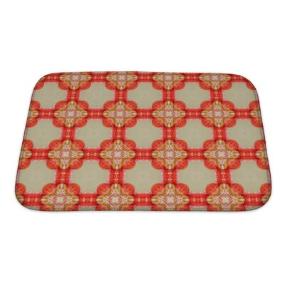 Primo Ethnic Pattern Geometric Kaleidoscope Bath Rug Size: Small