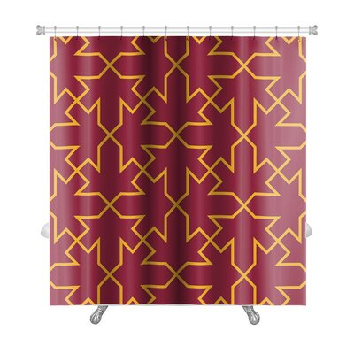 Creek Islamic Fashion Traditional Geometric Ornament Pattern Premium Shower Curtain