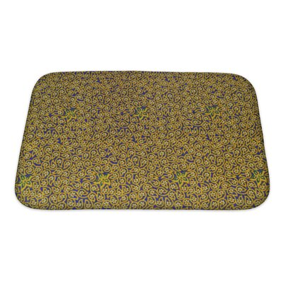 Charlie Close Up Beautiful Flower and Leaf Pattern Bath Rug Size: Small