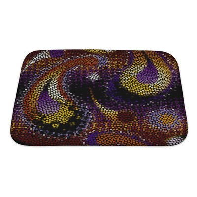Gamma Of Circles, Painted in Paisley Bath Rug Size: Small