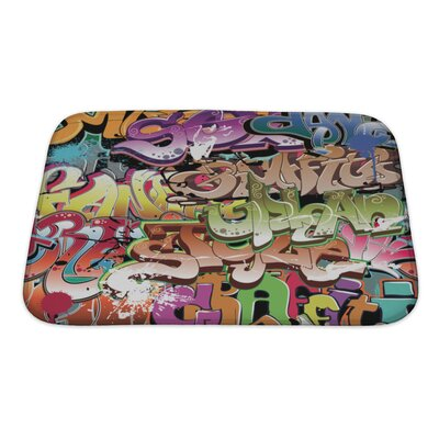 Art Beta Graffiti Urban Bath Rug Size: Small