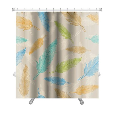 Leaves Color Feather Premium Shower Curtain