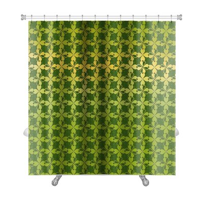 Simple Ornament of Stylized Leaf Clover Premium Shower Curtain