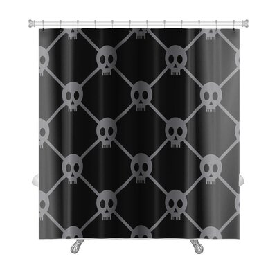 Delta Funny Skulls Premium Shower Curtain