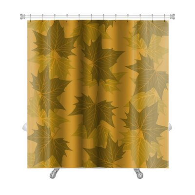 Leaves Maple Leaf Pattern Premium Shower Curtain