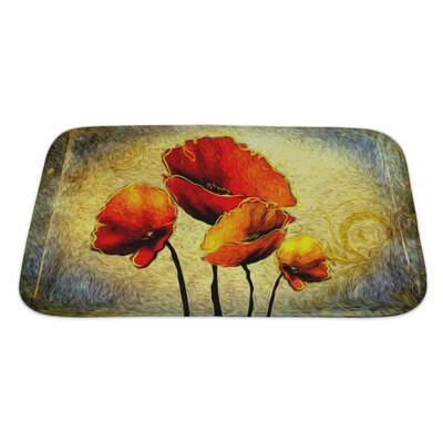 Art Touch Floral Digital Painting Bath Rug Size: Large
