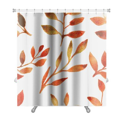 Leaves Autumn Watercolor Leaf Pattern Premium Shower Curtain