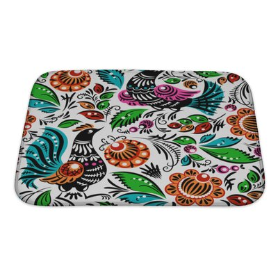 Birds Folk Bath Rug Size: Small