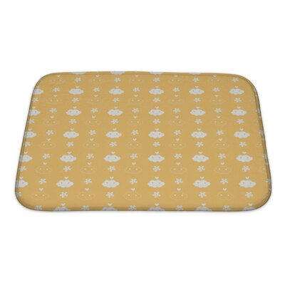 Alpha Beautiful Flowerand Cloud Pattern Bath Rug Size: Small