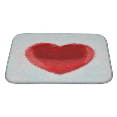 Human Touch Painted Heart Impressionism Digital Painting Bath Rug Size: Large