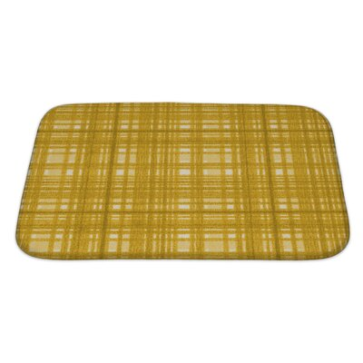 Gecko Plaid Bath Rug Size: Large