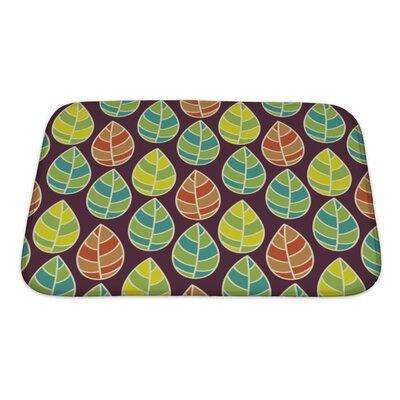 Leaves Beautiful Leaf Pattern Bath Rug Size: Small