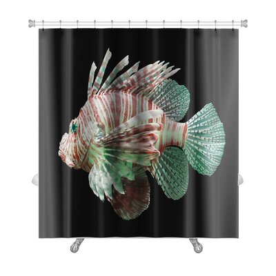 Furniture-Fish Pterois Volitans, Lionfish, Premium Shower Curtain
