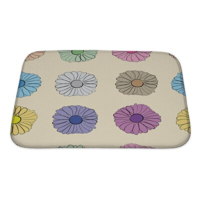 Flowers Flowers Camomiles on a Light Bath Rug Size: Small