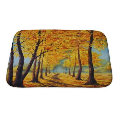 Landscapes High Autumn Trees, Autumn Harmony Bath Rug Size: Small