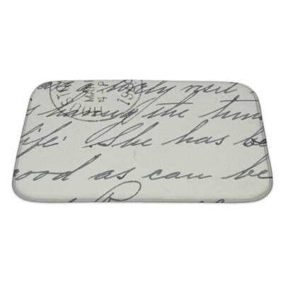 Vintage Hand Writing on a Letter from Houston, Postmark from 1949 Bath Rug Size: Large