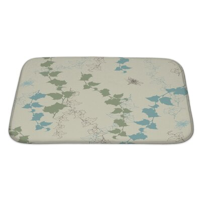 Alpha Dragonflies Bath Rug Size: Large