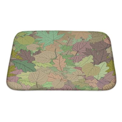 Leaves Leaves Stylized Leaf Pattern Bath Rug Size: Small