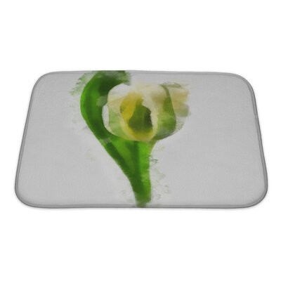 Art Soft Watercolor Tulip Bath Rug Size: Small