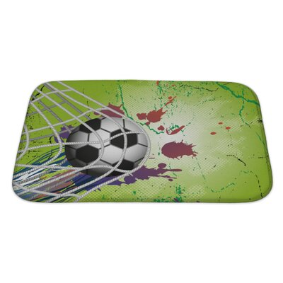 Soccer Soccer Ball Bath Rug Size: Large