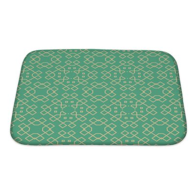 Creek Abstract Geometrical Bath Rug Size: Small