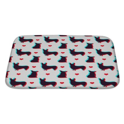 Animals Corgi Dog Pattern Bath Rug Size: Large