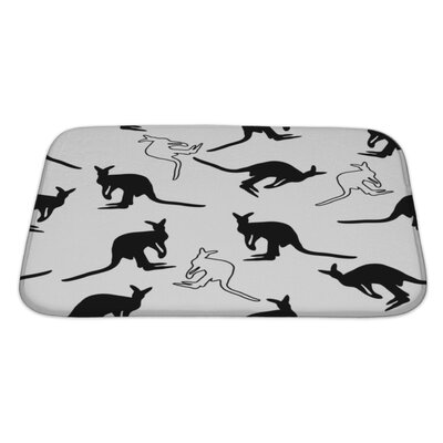 Animals Kangaroo Bath Rug Size: Large