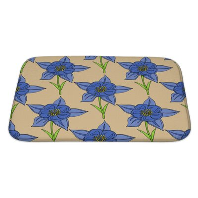 Flowers Seamles Floral with Flowers Bath Rug Size: Large
