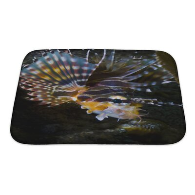 Fish Poisonous Lionfish In the Similan Islands Bath Rug Size: Small
