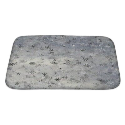 Alpha Theme Abstract or a Large Element of Tile About Upper Drifting Snow Fancy Bath Rug Size: Large