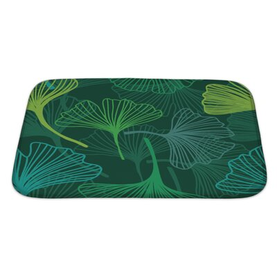 Delta Decorative Flower with Ginkgo Biloba Bath Rug Size: Large