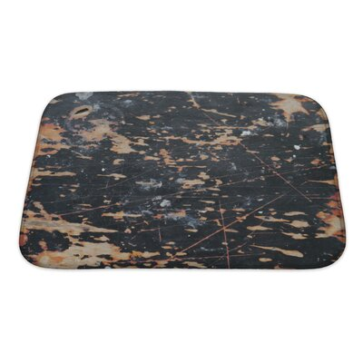 Wood Abstract of Wall Bath Rug Size: Small