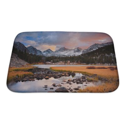 Landscapes Amazing Landscape, Beautiful Mountain Sunset Bath Rug Size: Small